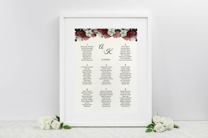 plan-stolow-weselnych-do-zaproszenia-boho-eleganckie-czerwono-bialy-bukiet-dodatki-ramka-papier-ecruefakturowany