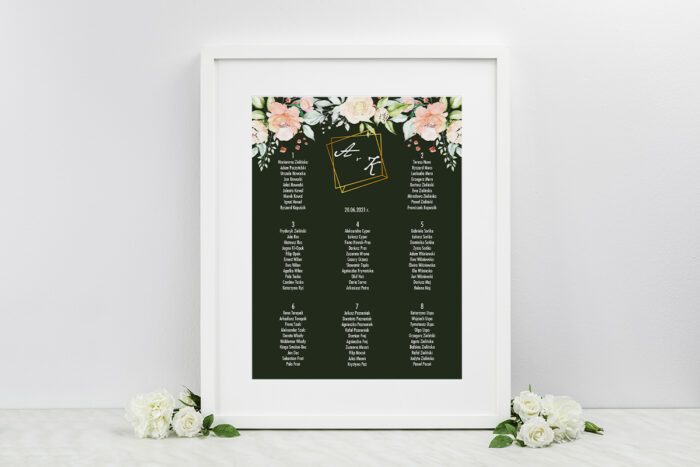 plan-stolow-weselnych-do-zaproszen-kontrastowe-z-kwiatami-jasna-kompozycja-kwiatowa-dodatki-ramka-papier-matowy