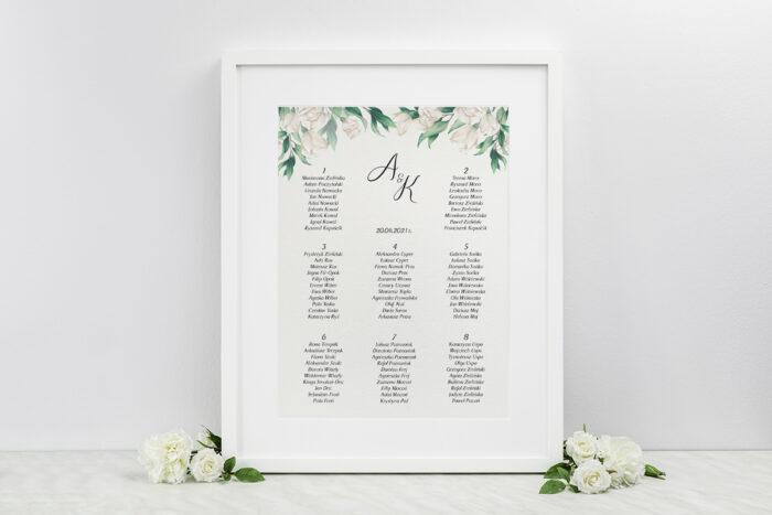 plan-stolow-weselnych-kwiatowe-galazki-biale-roze-dodatki-ramka-papier-ecruefakturowany