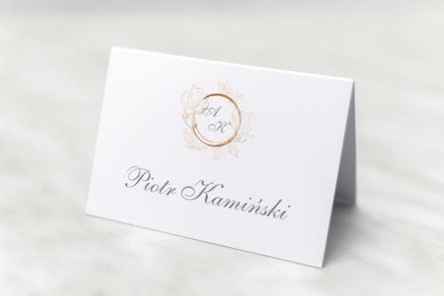 winietka weselna do zaproszenia minimalistyczne magnolia