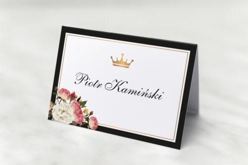 Winietka ślubna do zaproszenia z lakiem – Szykowne z różami