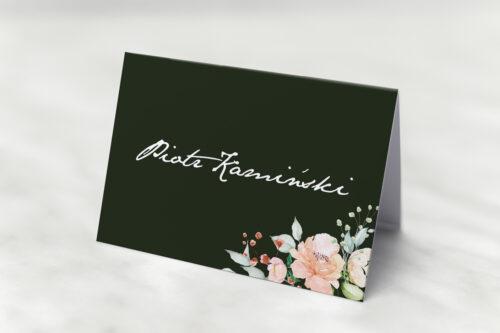 Winietka ślubna do zaproszenia Kontrastowe z kwiatami - Jasna kompozycja kwiatowa