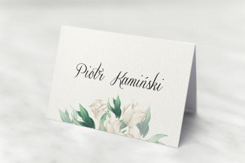 Winietka ślubna - Kwiatowe Gałązki - Białe Róże