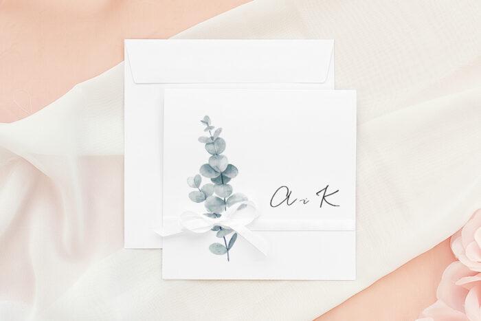zaproszenie-slubne-bukiet-ze-wstazka-eukaliptus-papier-matowy-wstazka--koperta-k4-pastelowy-roz
