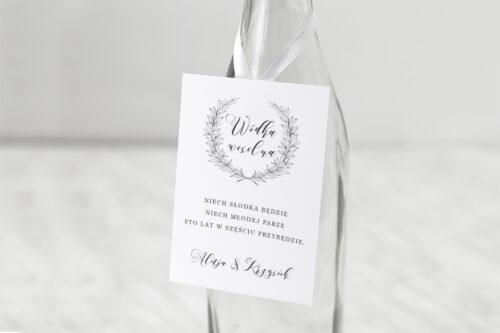 zawieszka na alkohol do zaproszenia minimalistyczne laur