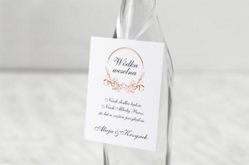 zawieszka na alkohol do zaproszenia minimalistyczne ornament