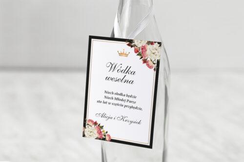Zawieszka na alkohol do zaproszenia z lakiem – Szykowne z różami