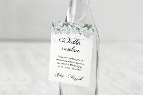 Zawieszka na alkohol - Kwiatowe Gałązki - Błękitne Róże